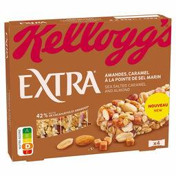 Kellogg's Kellogg's Extra - Barre de céréales amandes caramel pointe de sel marin les 4 barres de 32 g