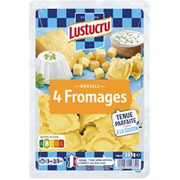 Lustucru Lustucru Ravioli 4 fromages la barquette de 340 g