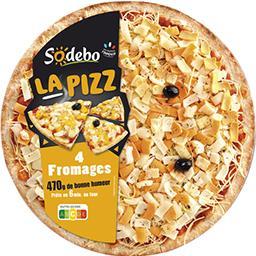 Sodeb'O Sodebo La Pizz mozzarella 4 fromages la pizza de 470 g