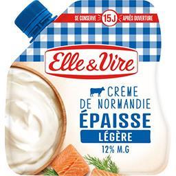 Elle & Vire Elle & Vire Crème de Normandie épaisse légère 12% MG la poche de 328 g