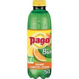 Pago Pago Boisson orange carotte citron BIO la bouteille de 75 cl