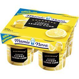 Mamie Nova Mamie Nova Gourmand - Yaourt citron Lemon Curd les 4 pots de 150 g