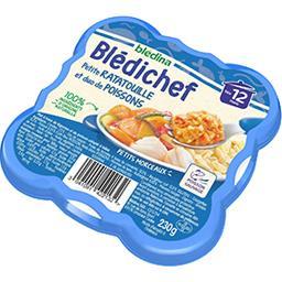 Blédina Blédina Blédichef - Petite ratatouille et duo de poissons, dès 12 mois l'assiette de 230 g
