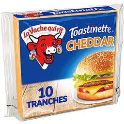 La vache qui rit La Vache qui rit Toastinette - Fromage cheddar fondu pour hamburger le paquet de 10 tranches - 200 g