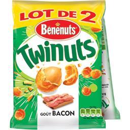 Bénénuts Bénénuts Twinuts - Cacahuètes goût bacon les 2 sachets de 140 g