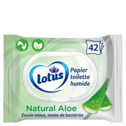 Lotus Lotus Papier toilette humide Aloe Douceur le paquet de 42