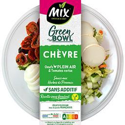 Mix Mix Salade Green Bowl chèvre œufs plein air & tomates cerise la barquette de 240 g