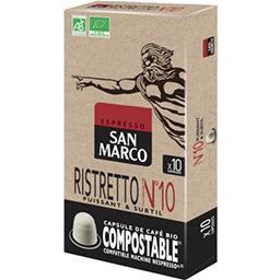San Marco San Marco Café capsules N° 10 Ristretto  Bio les 10 capsules de 5.1 g