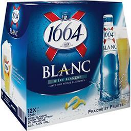 1664 1664 Blanc - Bière blanche aromatisée citron et coriandre le pack de 12x25cl