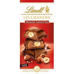 Lindt Lindt Les Grandes - Chocolat noir praliné noisettes la tablette de 225 g