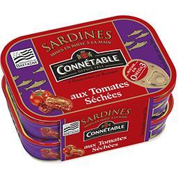 Connetable Connétable Sardines à l'huile d'olive aux tomates séchées les 2 boites de 115 g