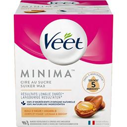 Veet Veet Cire Minima au sucre corps et visage huile d'argan le pot de 250 ml
