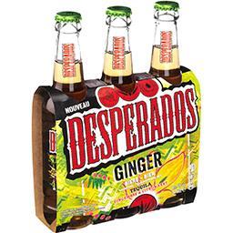 Desperados Desperados Ginger - Bière aromatisée Tequila gingembre citron vert les 3 bouteilles de 33cl