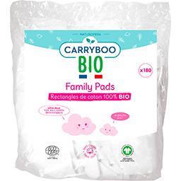 Carryboo Carryboo BIO - Rectangles de coton 100% BIO Family Pads le paquet de 180