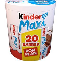 Kinder Kinder Maxi - Maxi barres chocolatées la boite de 20 barres - 420 g - Bon Plan