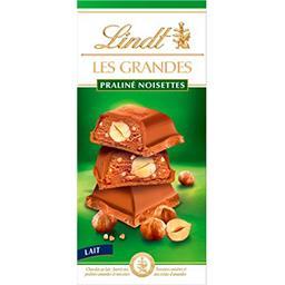 Lindt Lindt Les Grandes - Chocolat au lait praliné noisettes la tablette de 225 g