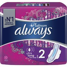 Always Always Serviette hygiéniques Ultra long T2 le paquet de 12