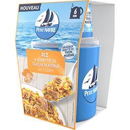 Petit Navire Petit navire Riz & émietté de thon mariné au curry la boite de 140 g