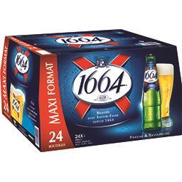 1664 1664 Bière les 24 bouteilles de 25 cl - Maxi format
