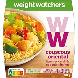 WeightWatchers Weight Watchers Couscous Oriental légumes cuisinés & poulet émincé la barquette de 300 g