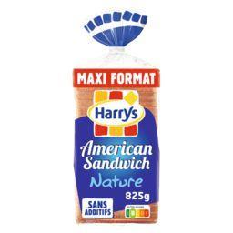 Harry's Harrys Pain de mie American Sandwich Nature Maxi le paquet de 21 tranches - 825g