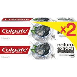 Colgate Colgate Natural Extracts - Dentifrice charbon végétal le lot de 2 tubes de 75 ml