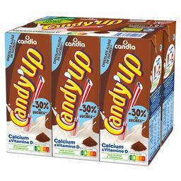 Candia Candia Candy'Up - Boisson lactée chocolatée allégée en sucres les 6 briques de 20 cl