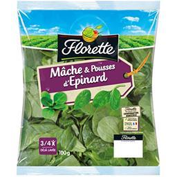 Florette Florette Mâche & pousses d'épinard le sachet de 100 g