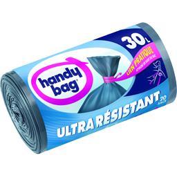 Handy Bag Handy Bag Sacs poubelle Ultra-résistant lien pratique 30 l les 20 sacs