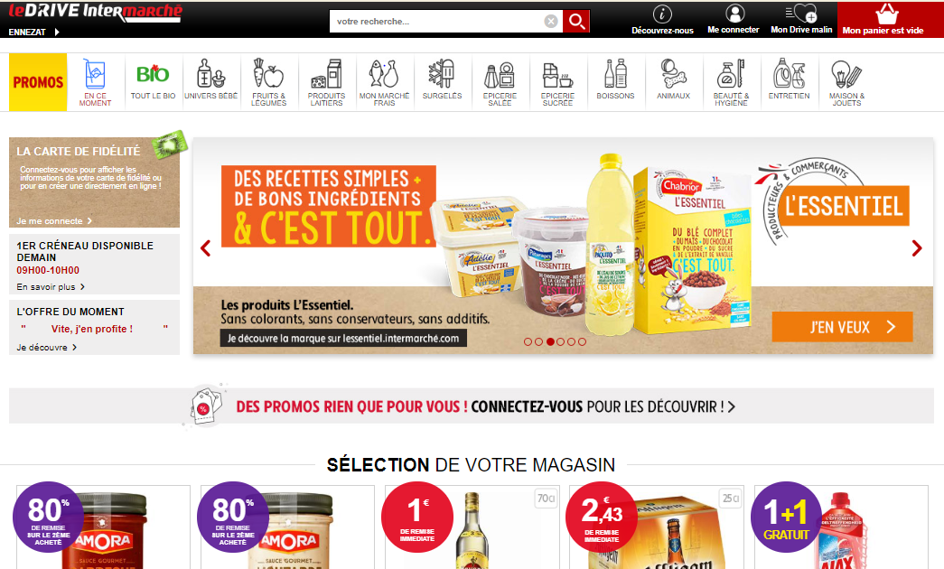 Intermarché Drive Page Accueil