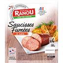 Monique Ranou Saucisses fumées au bois de hêtre les 4 saucisses de 100 g