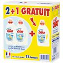 Le Chat Sensitive - Lessive savon de Marseille & lait d'aman... le lot de 2 bidons de 1,875 l
