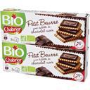 Chabrior Petit beurre BIO avec tablette de chocolat noir les 2 paquets de 150g