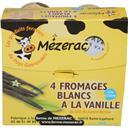 Mézerac Fromage blanc fermier à la vanille les 4 pots de 125 g