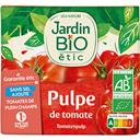Pulpe de tomate bio JARDIN BIO, brique de 500g
