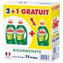 Le Chat L'Expert - Lessive liquide bicarbonate le lot de 3 bidons de 1,875 l
