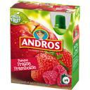 Andros Compote pomme fraise framboise les 4 gourdes de 90 g