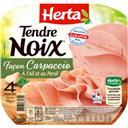 Herta Tendre Noix - Jambon façon Carpaccio à l'ail et au p... la barquette de 4 tranches - 120 g