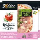Sodebo Dolce Pizza - Pizza billes de mozzarella & chiffonna... le lot de 2 pizzas de 400 g