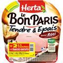 Herta Le Bon Paris - Jambon Tendre & Epais saveur rôti les 3 barquettes de 4 tr - 420 g