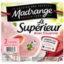 Madrange Le Supérieur - Jambon avec couenne la barquette de 2 tranches - 80 g