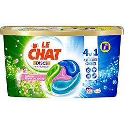 Le Chat Le Chat Fraîcheur - Discs de lessive liquide 4 en 1 Rosée du Matin les 25 doses de 25 g