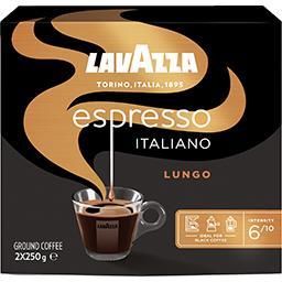Lavazza Lavazza Café moulu Espresso Italiano Lungo les 2 paquets de 250 g