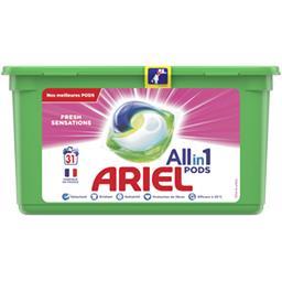 Ariel Ariel Lessive en capsules All in 1 pods fresh sensations La boîte de 31 lavages