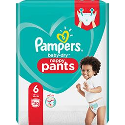 Pampers Pampers Couches-culottes baby-dry pants taille 6, 15kg+ Le paquet de 20 couches