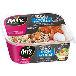 Mix Mix Salade & céréales thon avocat la barquette de 250 g