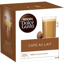 Nescafé Nescafé Dolce Gusto - Capsules de café au lait les 16 capsules de 10 g