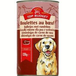 Boulettes en sauce au bœuf pour chien