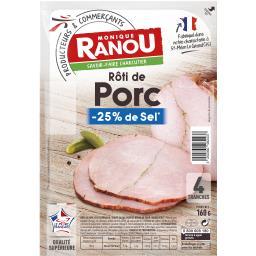 Rôti de porc réduit en sel