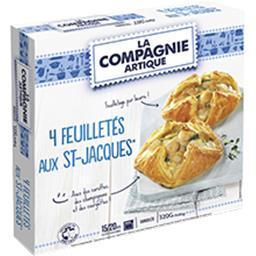 La Compagnie Artique La Compagnie Artique Feuilletés aux St Jacques les 4 feuilletés de 80 g